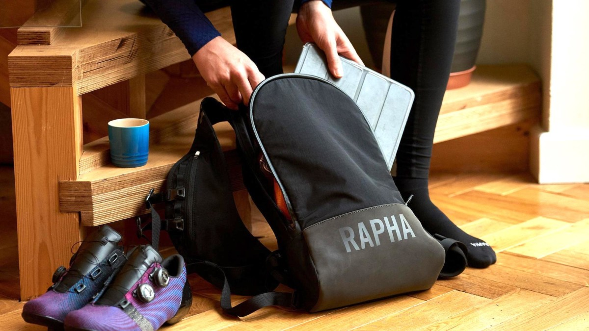 Rapha Pro Team Lightweight Backpack cycling bag is great for training rides