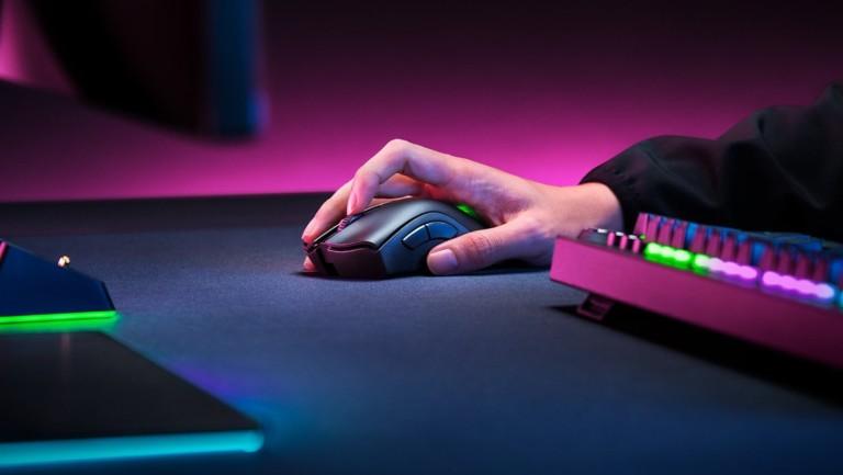 Razer DeathAdder V2 Pro wireless gaming mouse has a Focus+ Optical Sensor