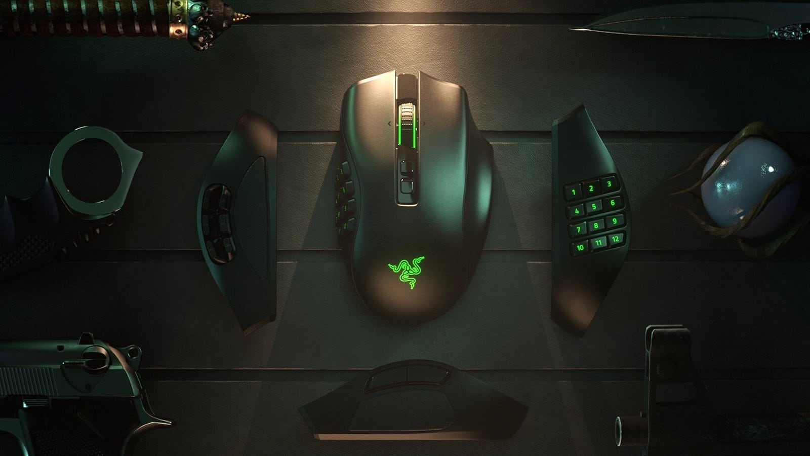Razer Naga Pro gaming mouse has swappable button plates with so many options
