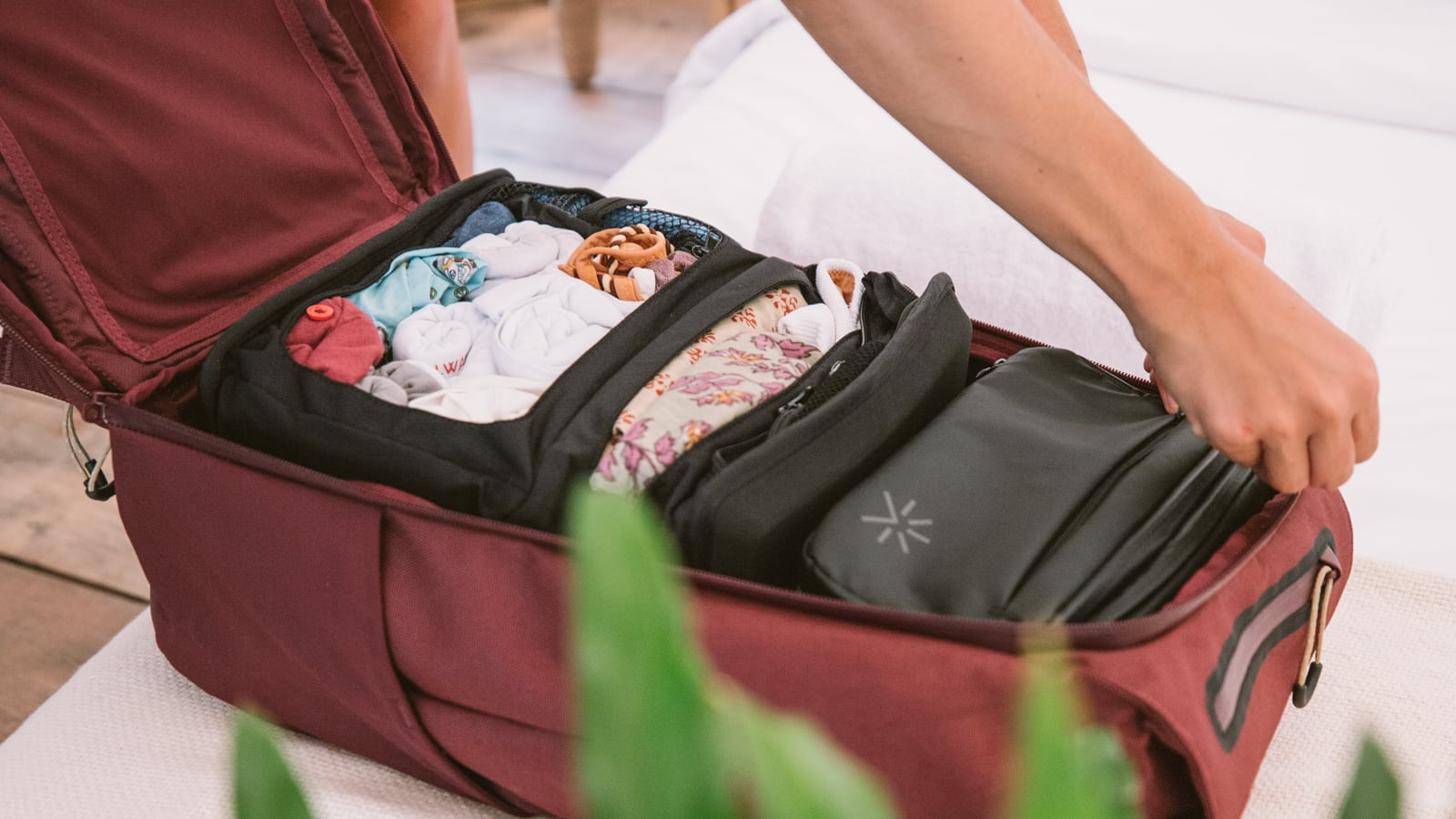 Shell Backpack modular wardrobe system is great for travel anywhere and everywhere