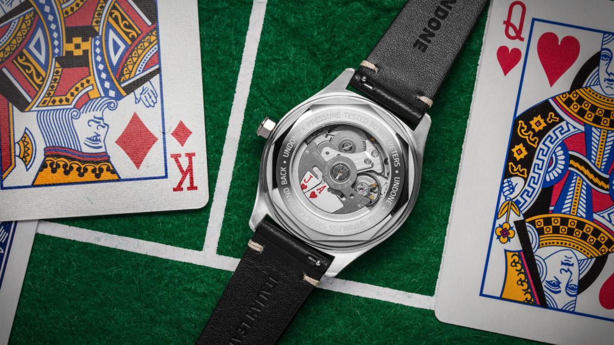 UNDONE Texas Holdem poker-themed watch boasts a Basecamp Cali dial