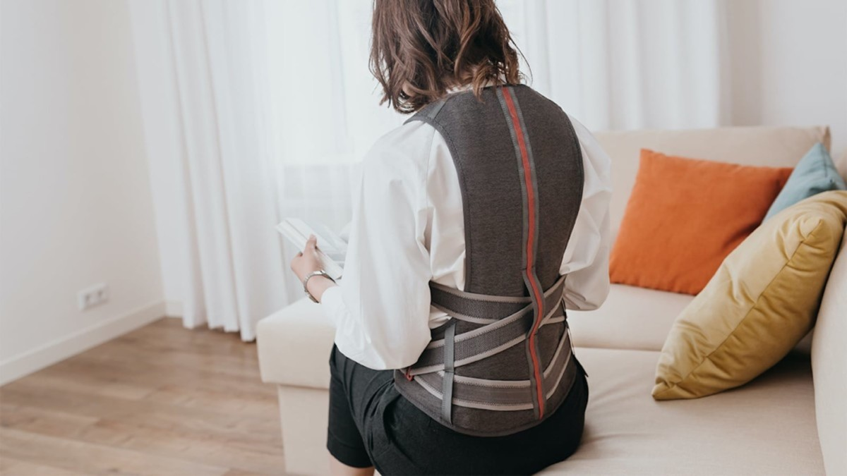 This lightweight back brace is more comfortable and stylish