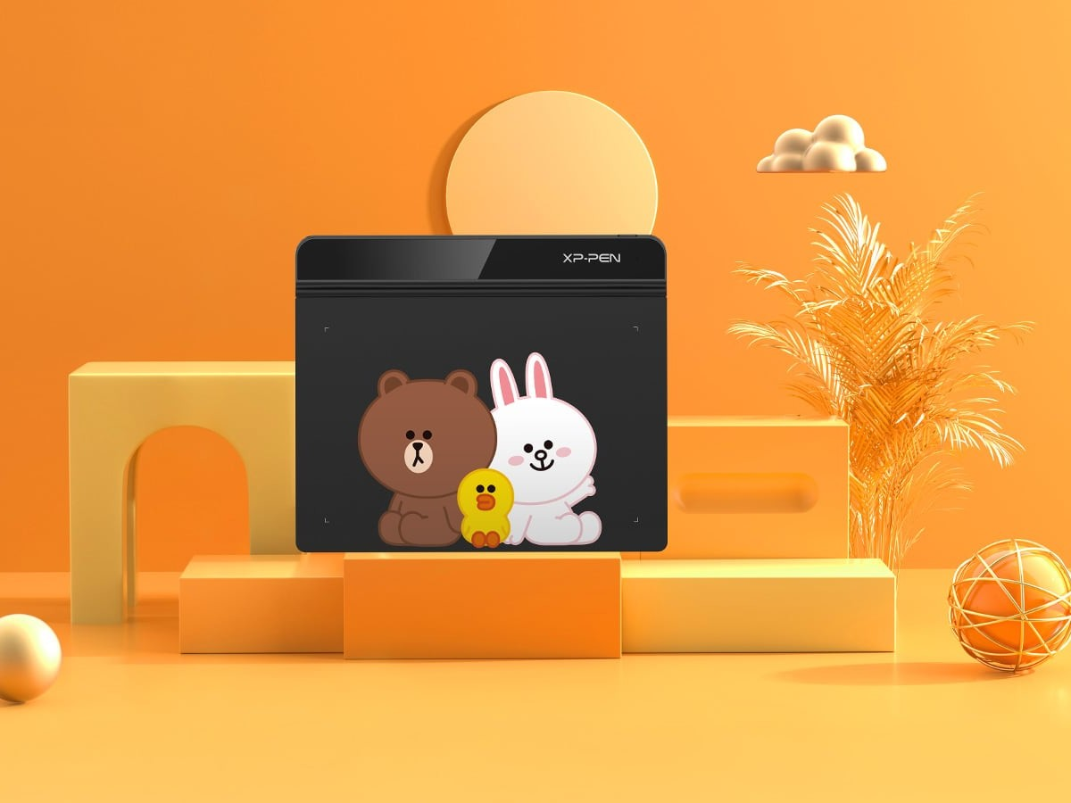 XP-PEN Tablet Collection LINE FRIENDS Edition cute tablet series makes digital painting fun
