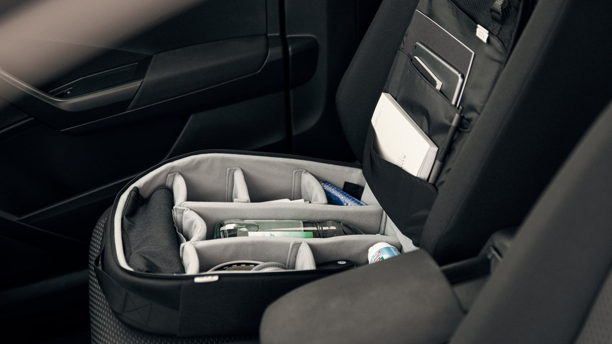 izzy smart car organizer is a flexible bag for your vehicle