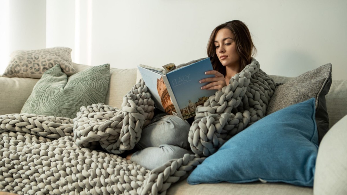 A weighted blanket that combats insomnia and reduces anxiety