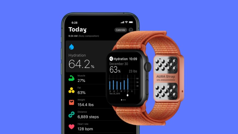 AURA Strap smart Apple Watch band tracks your hydration and more