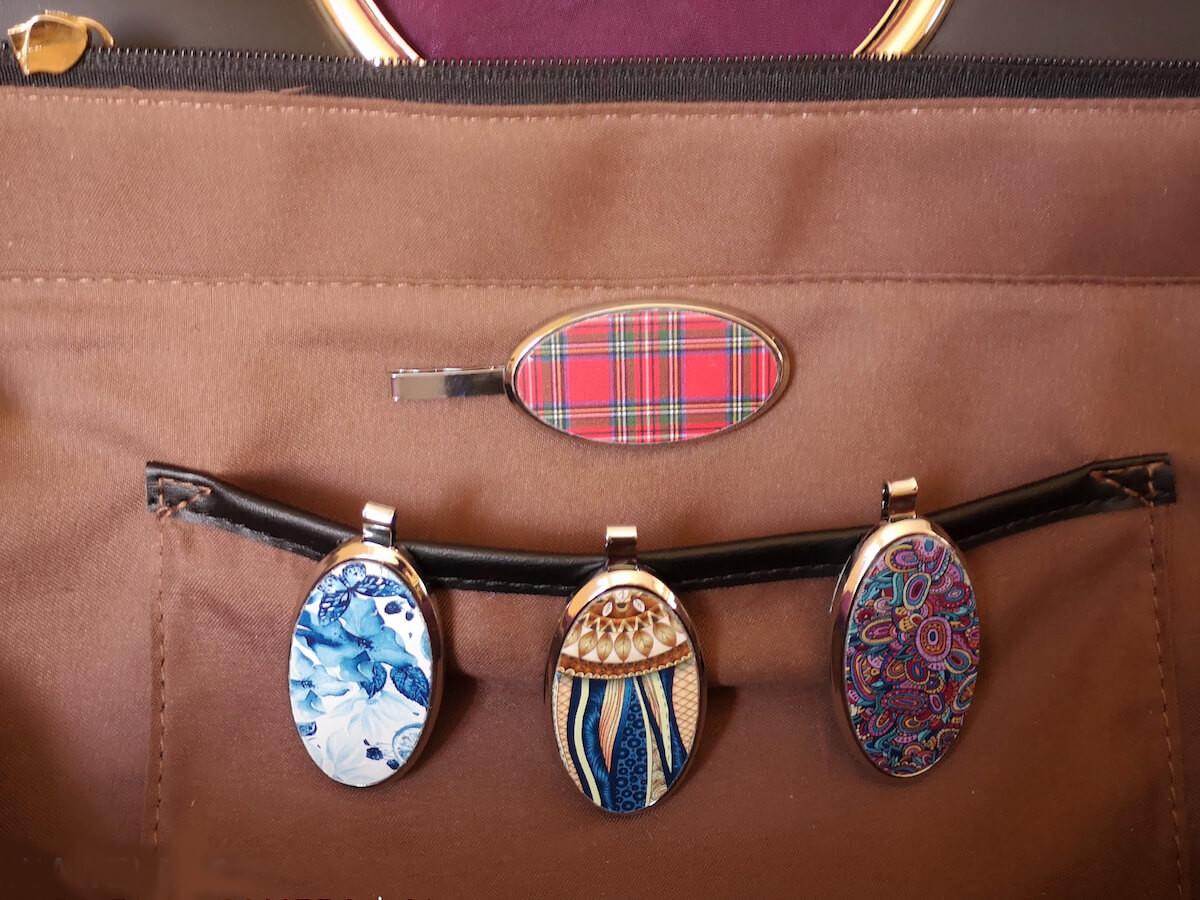 Bagnetique magnetic handbag phone holder lets you instantly reach your essentials