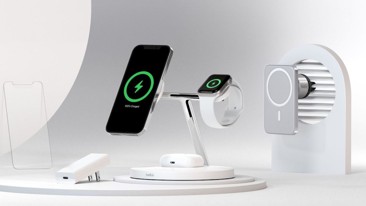 Belkin BOOST↑CHARGE PRO MagSafe 3-in-1 Wireless Charger delivers the fastest charge