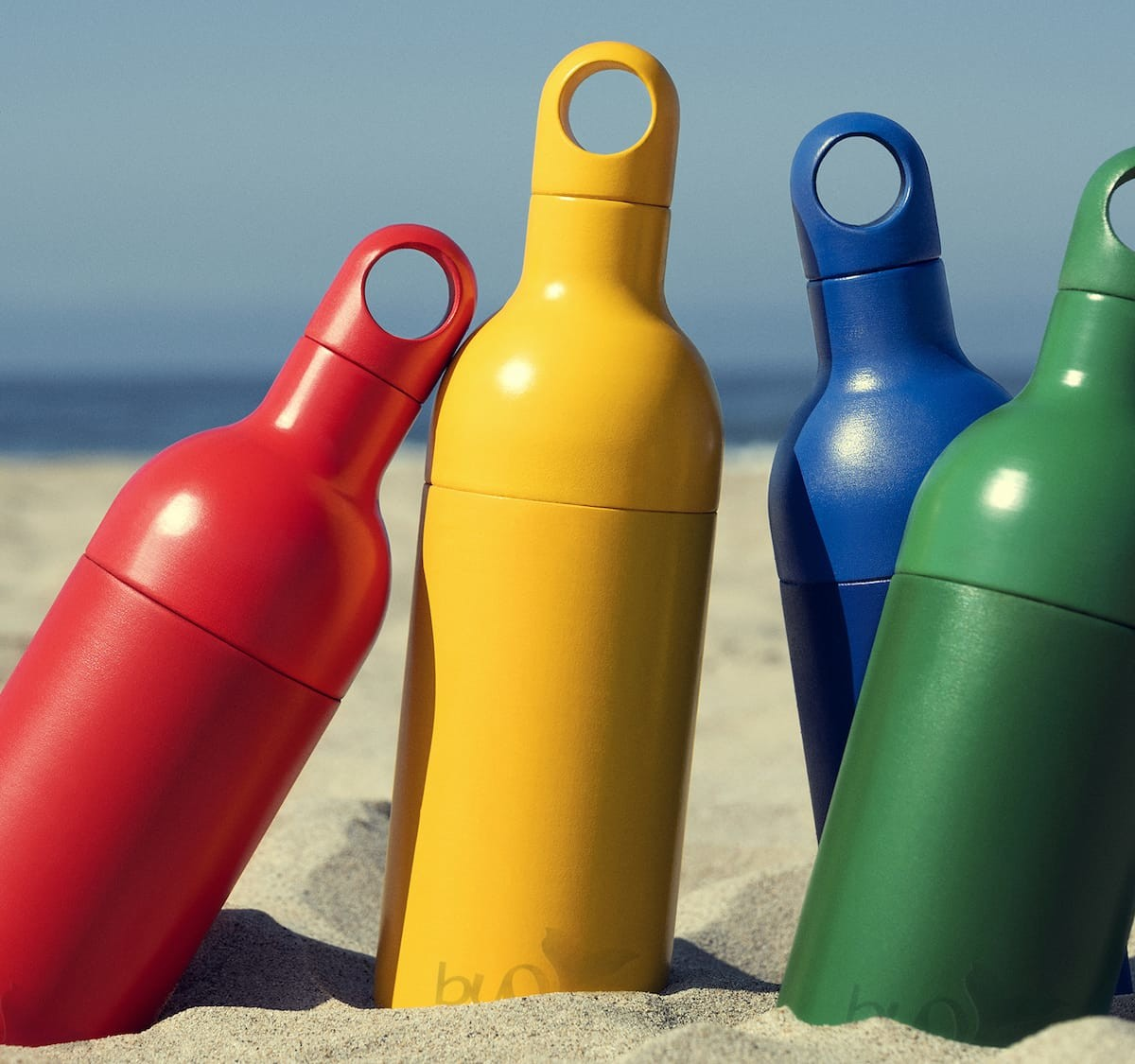 Buoy Bottle recycled water bottle consists of 100% recycled ocean-bound plastic