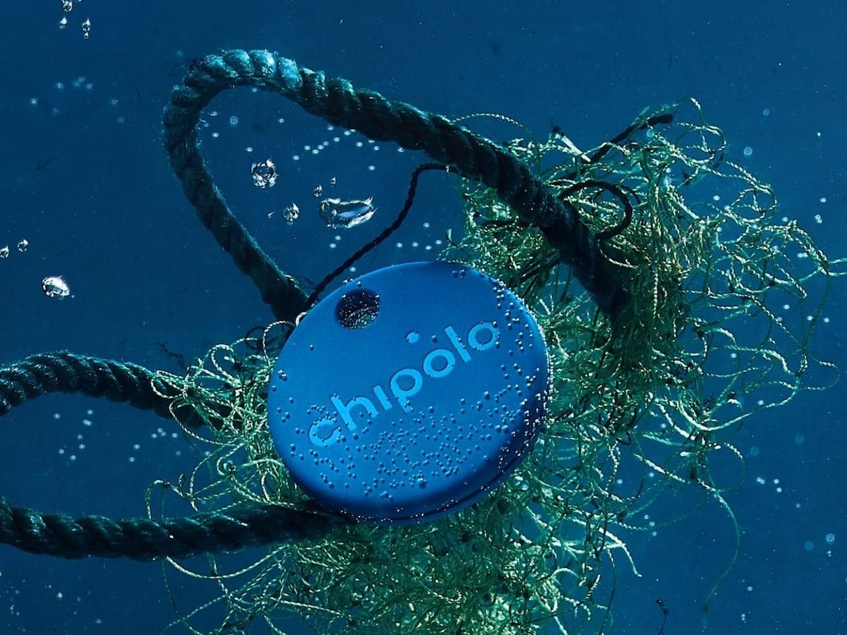 Chipolo ONE Ocean Edition key finder is made from recycled fishing nets