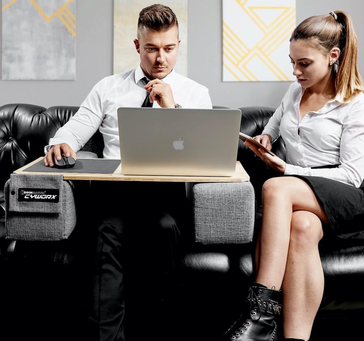 Couchmaster® CYWORX ergonomic lapboard has supportive cushions & better balance