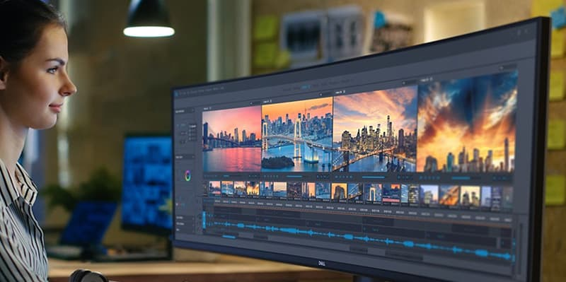 Dell Ultrasharp 49 Curved Dual QHD Monitor