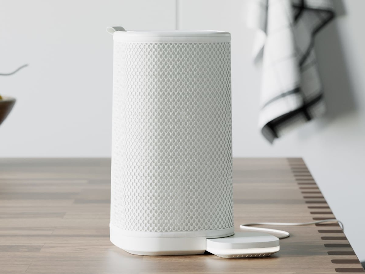 Eteria filterless personal air purifier maps and cleans the air in your whole home