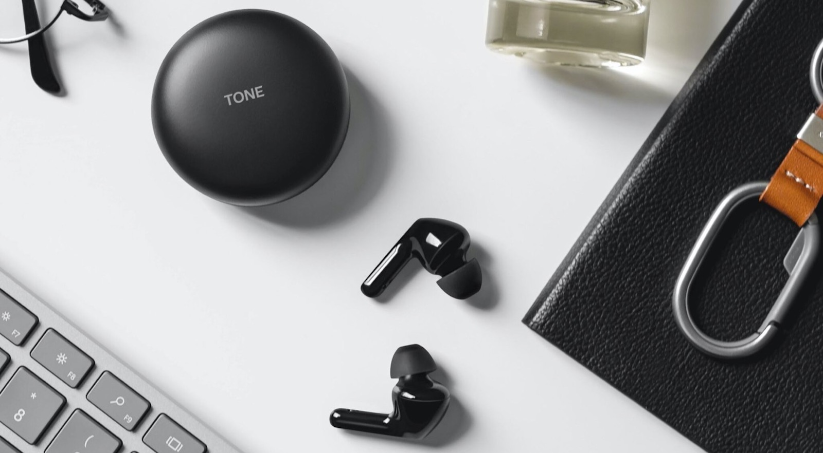 LG Tone Free FN7 wireless earbuds have active noise cancellation and a UV light case