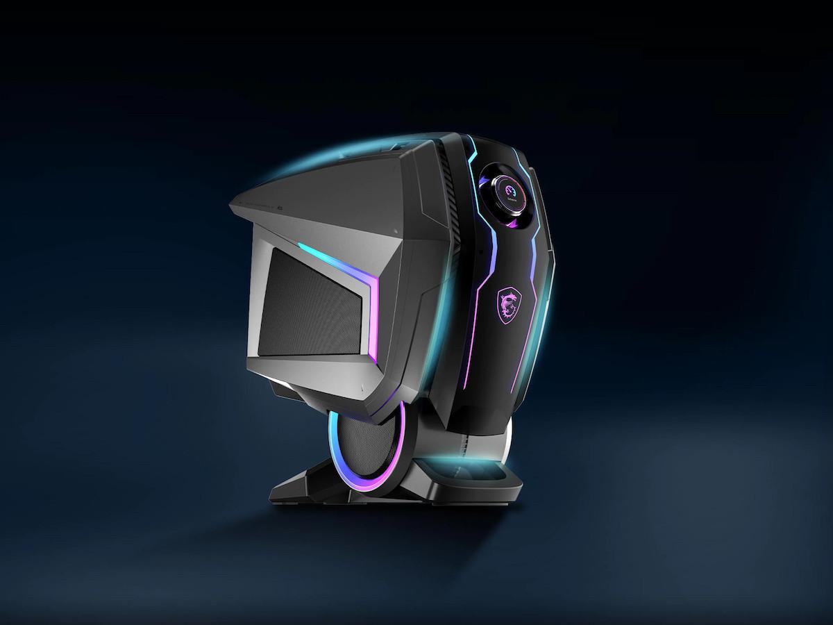 MSI MEG Aegis Ti5 gaming PC features a NVIDIA RTX 3080 graphics card and a sci-fi design
