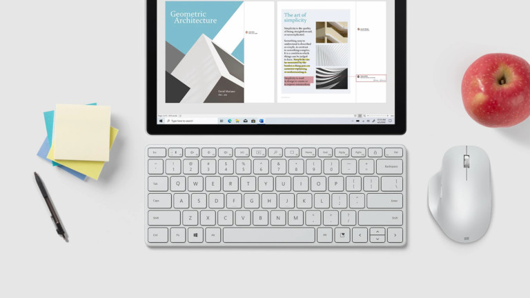 Microsoft Designer Compact Wireless Keyboard features a screen snipping key for efficiency