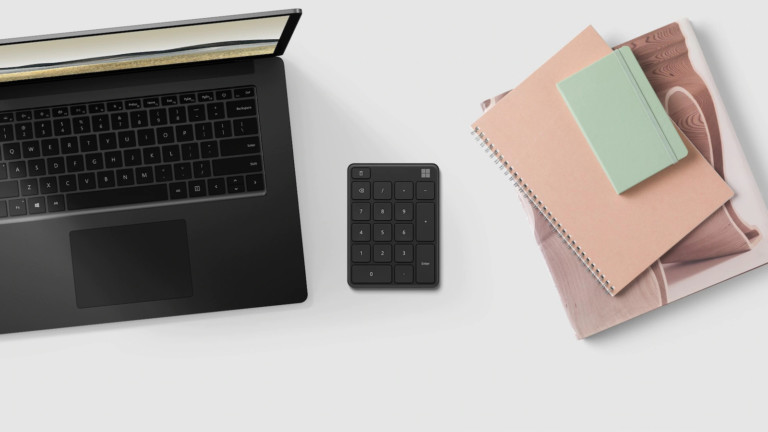 Microsoft Number Pad keyboard accessory allows you to type with numbers faster