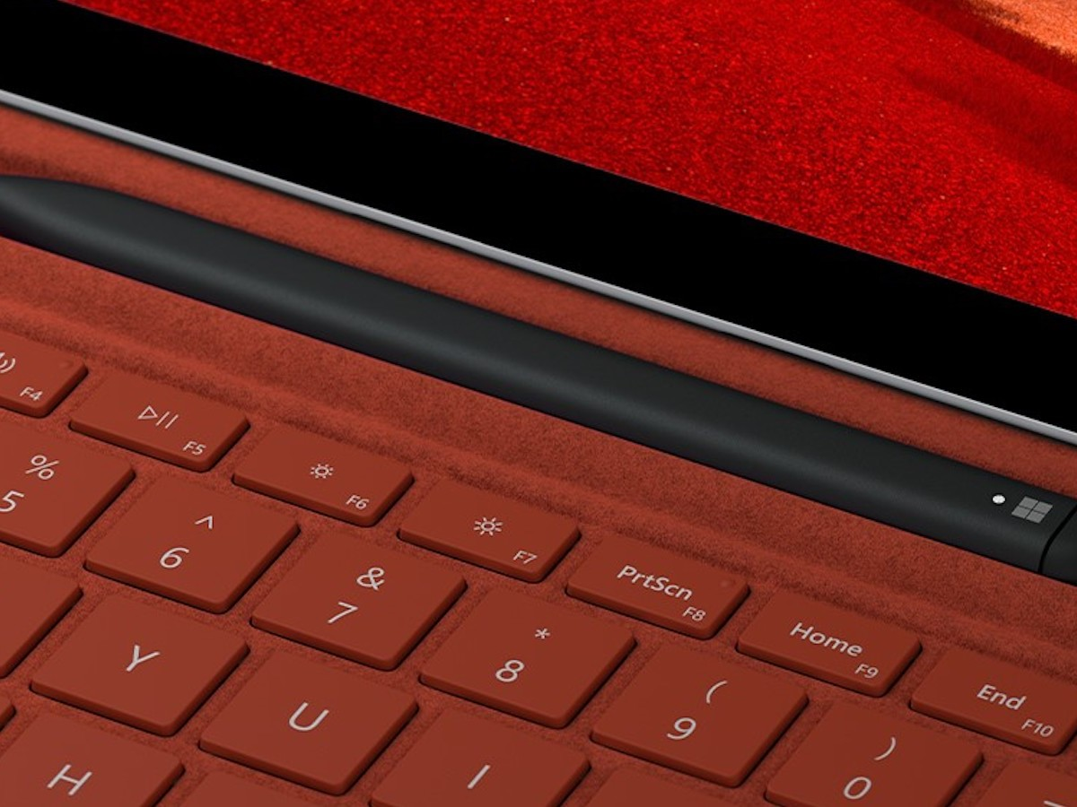 Microsoft Surface Pro X Signature Keyboard with Slim Pen Bundle has an easy-to-hold profile