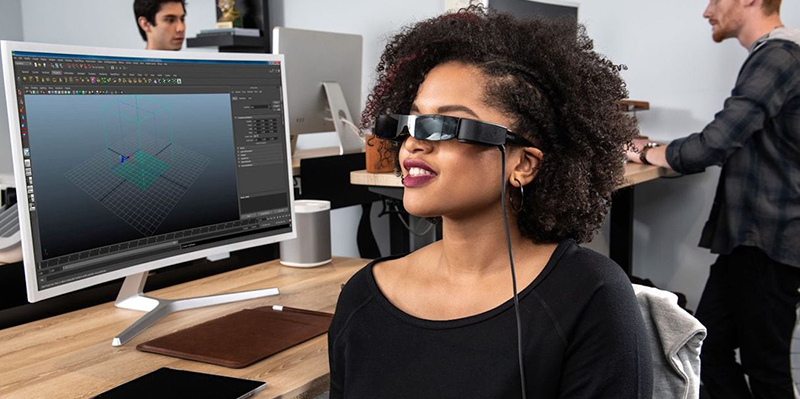 Epson Moverio BT-30C High-Resolution Smart Glasses