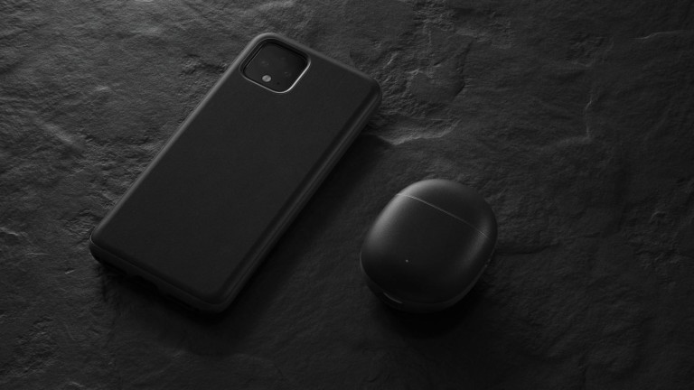 Nomad Pixel Buds Rugged Case features a classic, yet bold look