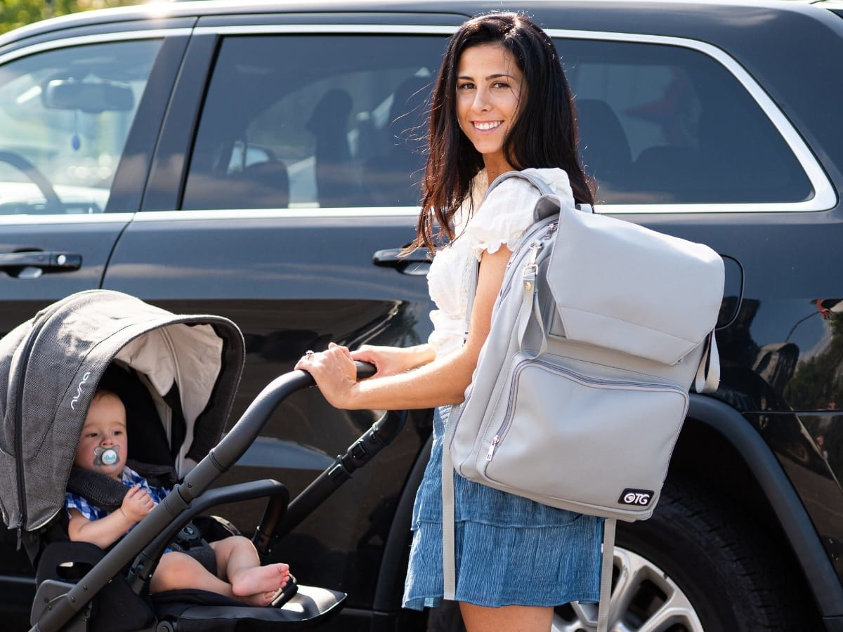 OTGbaby Diaper Changing Backpack is the diaper bag that will help your family go places