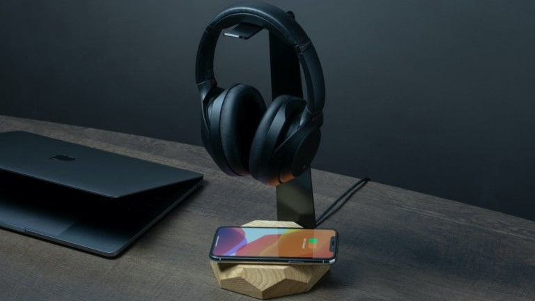 Oakywood 2 in 1 Headphone Stand and Charger