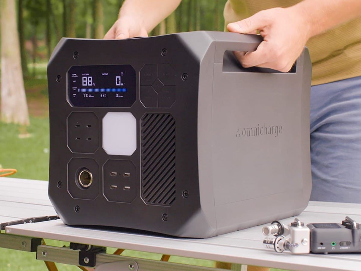 Omnicharge Omni Off-Grid portable camping power station has 16 individual ports
