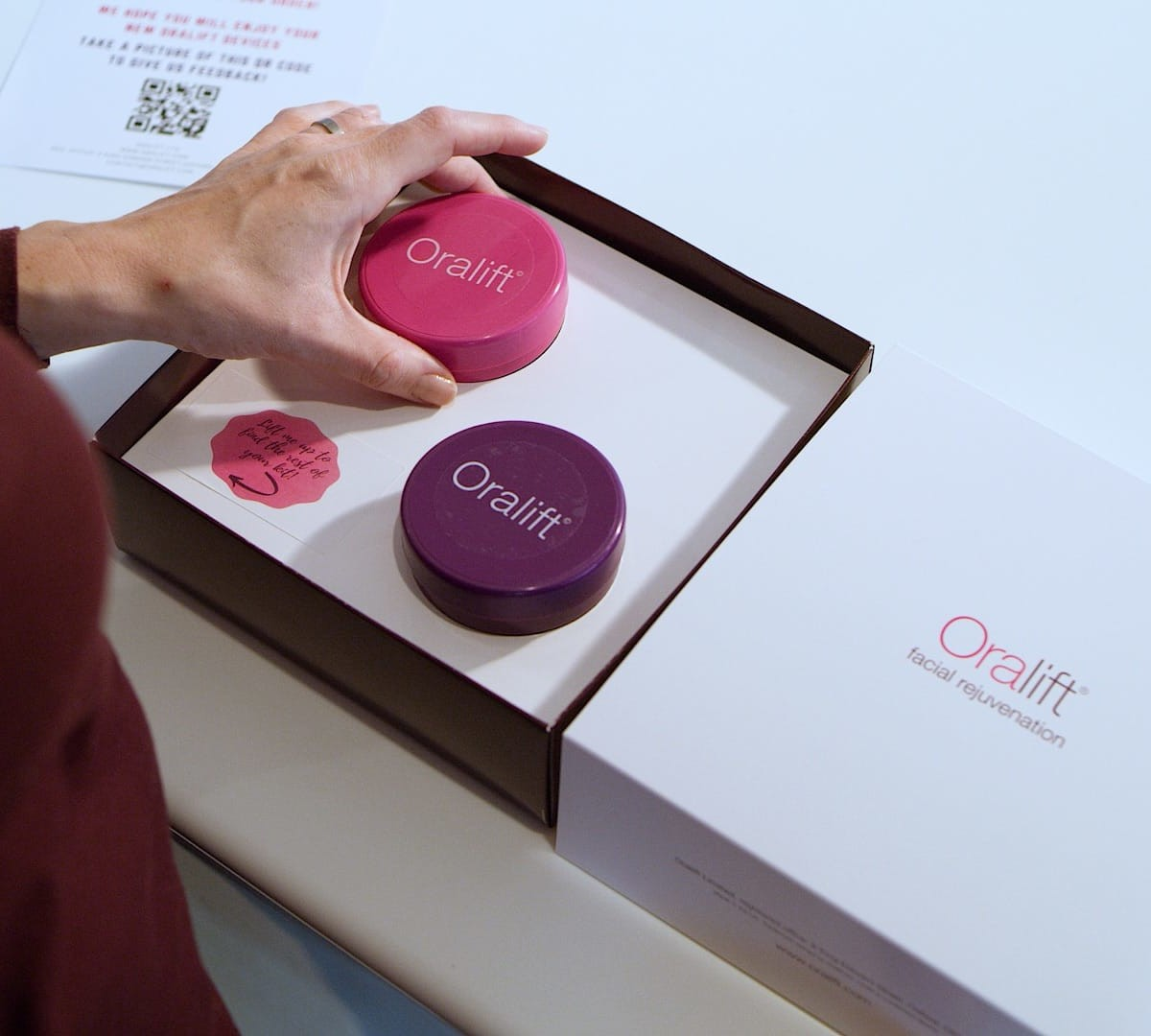 Oralift natural facelift device rejuvenates your face at home with the connected app