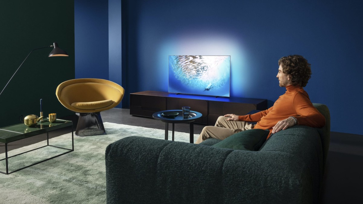 Philips OLED805 4K UHD Android TV boasts incredible images and a minimalist shape