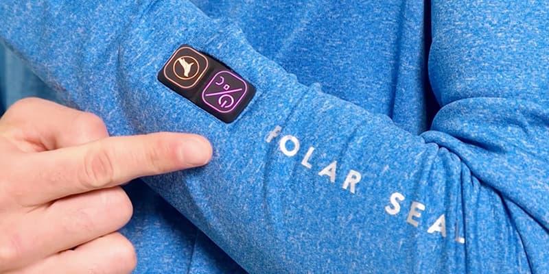Polar Seal Heated Zip Top Self-Heating Shirt