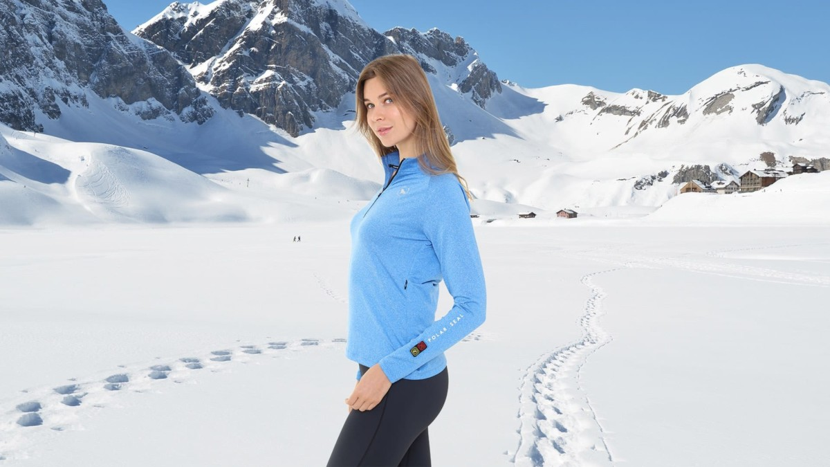 Polar Seal Heated Zip Top Self Warming Shirt Creates Instant Heat At The Touch Of A Button Gadget Flow