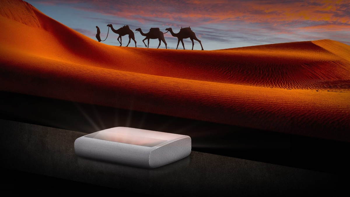Samsung 130″ The Premiere 4K smart projector uses triple-laser technology