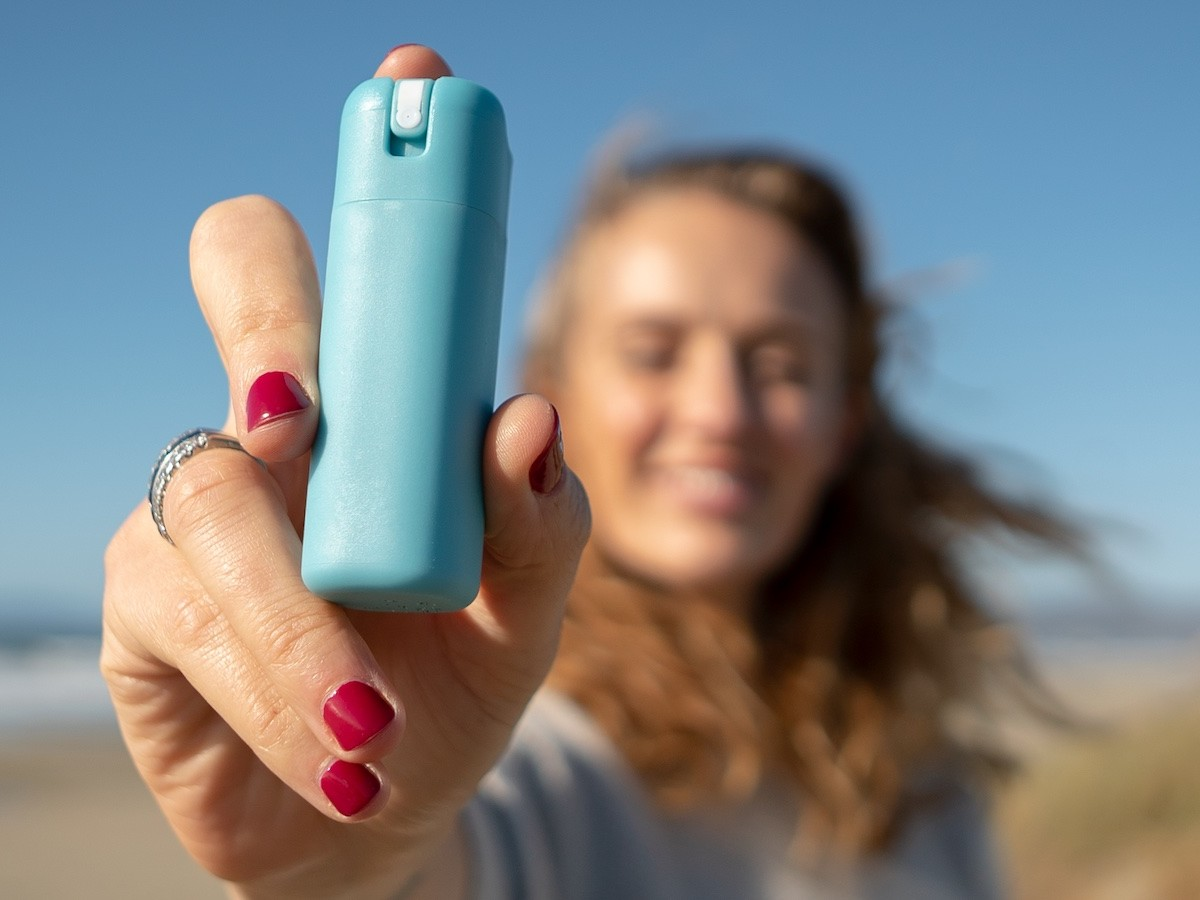 Sanikind Mini eco-friendly sanitizer mist cleans your hands without the plastic waste