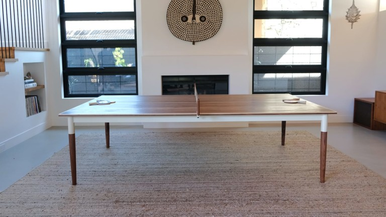 Sean Woolsey Studio Pong Springs ping pong table has a timeless MCM design