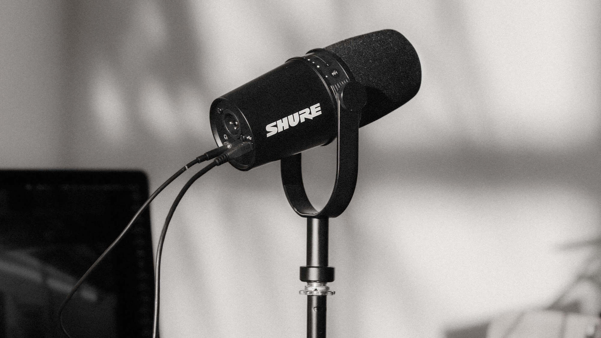 Shure MV7 dynamic podcast microphone lets you control your vocal tone & clarity on the app