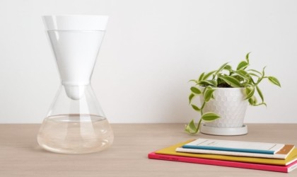 Soma Glass Carafe Hourglass Water Filter