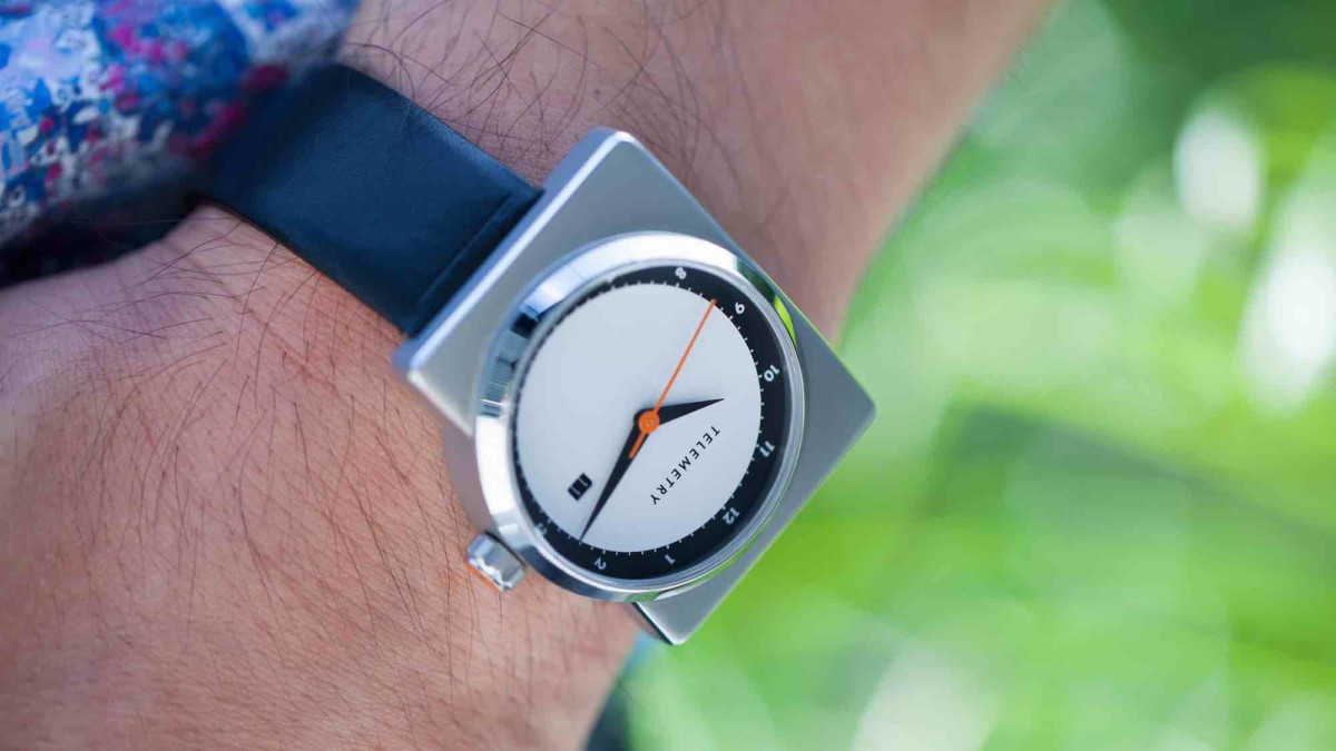 TELEMETRY Apollo mission-inspired wristwatch has a retro, futuristic design
