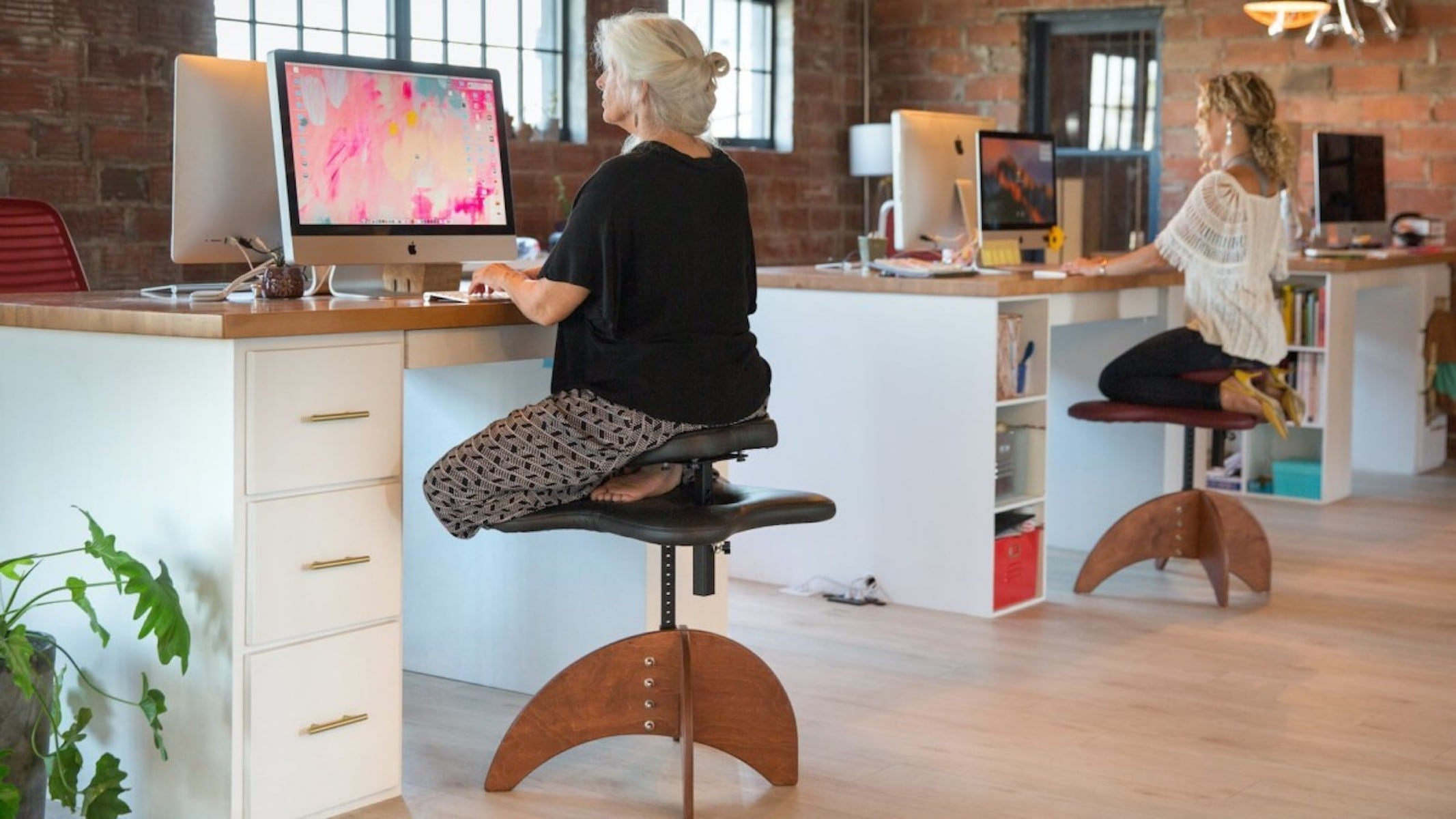 Bamboo Soul Seat Healthy Positioning Chair in Use
