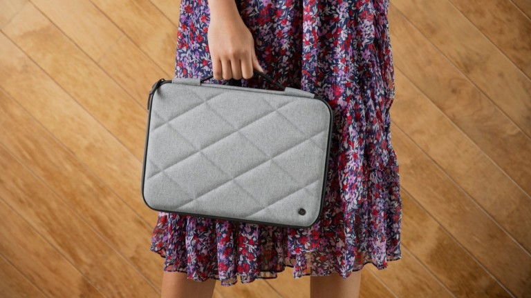 Twelve South SuitCase for MacBook quilted laptop case is tough and water resistant