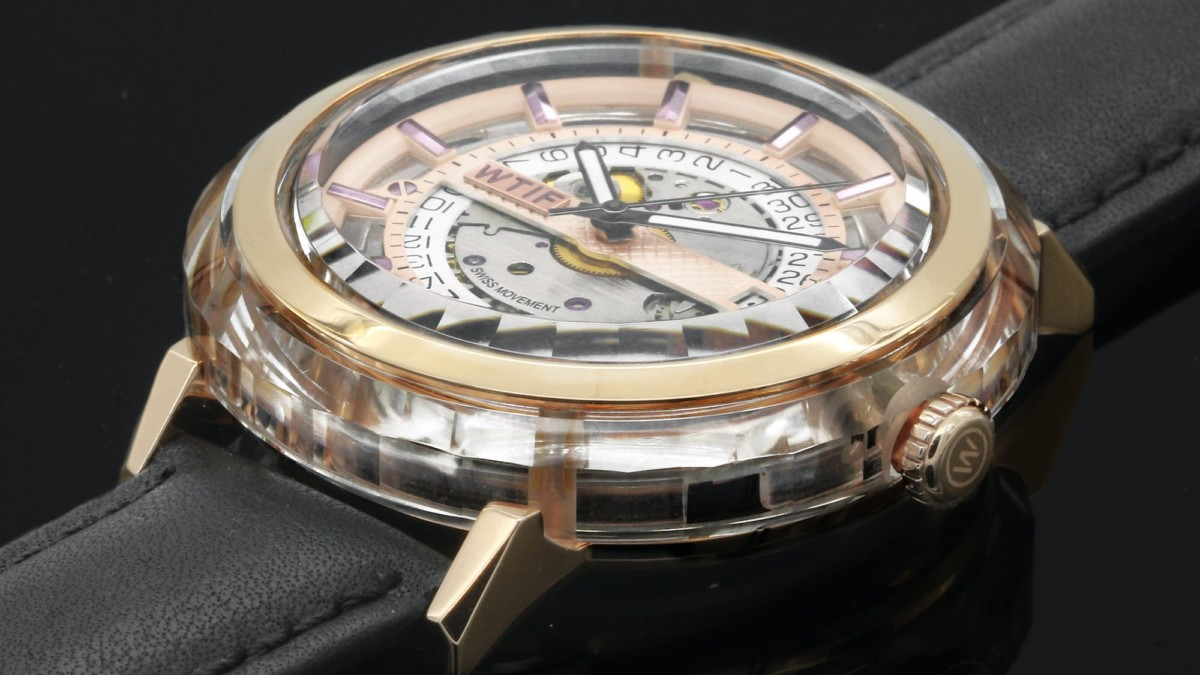 WTIF sapphire-crystal-case watch uses an automatic Swiss-made movement