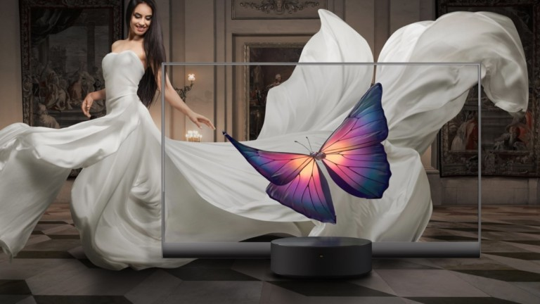 Xiaomi Mi TV LUX OLED Transparent Edition clear TV design