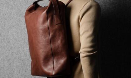 hardgraft Chestnut Belted Leather Backpack