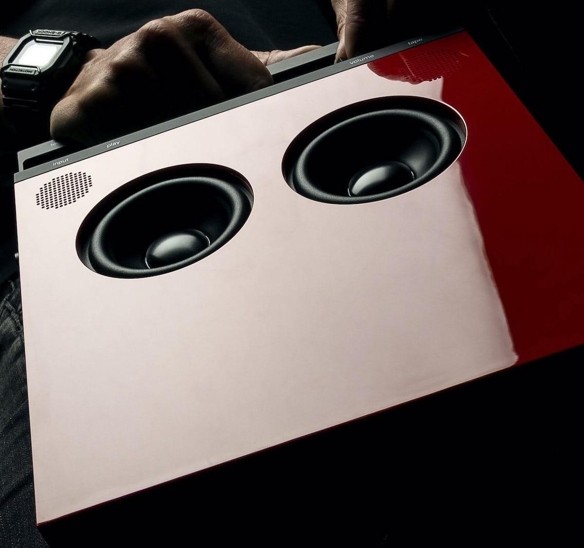teenage engineering OB-4 magic radio is a portable high fidelity loudspeaker