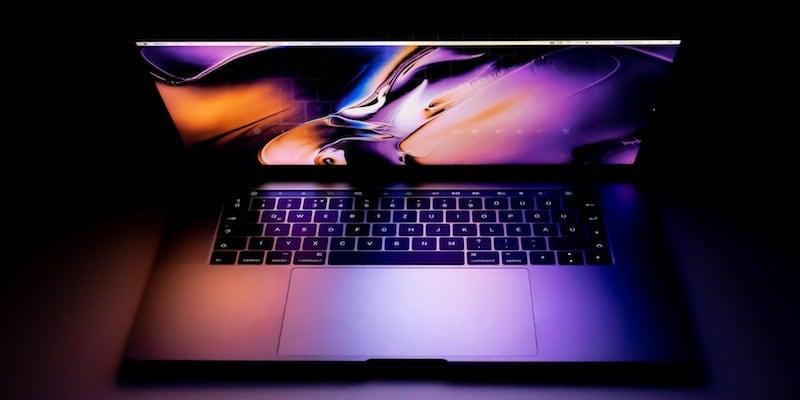 MacBook Retina Display in the dark