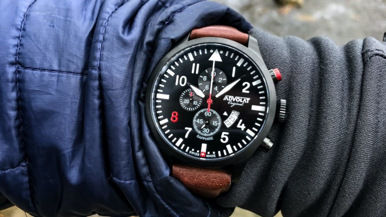 ADVOLAT FLIEGER 8 chronograph pilot watch has exceptional engineering and components