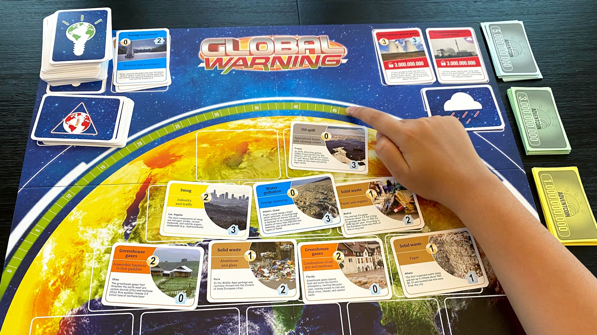Adventerra Games's Global Warning climate change game cleans the earth & slows rising temps