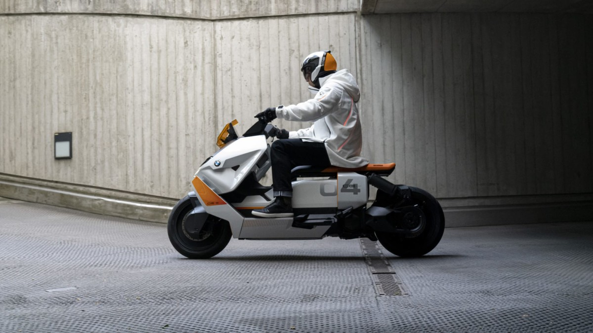 BMW Motorrad Definition CE 04 sit-on eScooter works for transportation & communication