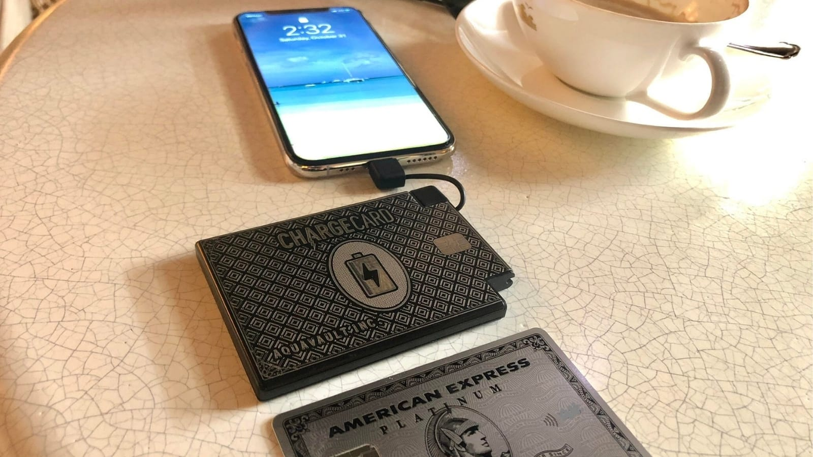 ChargeCard by AquaVault is the ultra-thin credit-card-size portable charger