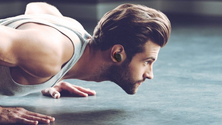 Cleer Goal natural fit earbuds have an ergonomic design to stay in place during activity