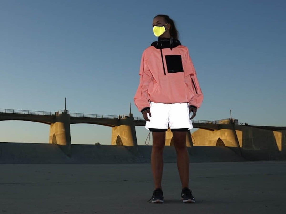 Coat of Arms 3M Reflective Face Mask keeps you visible in the dark